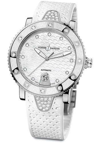 Ulysse Nardin Watches - Marine Diver Lady 40mm - Stainless Steel - Style No: 8103-101E-3C/10