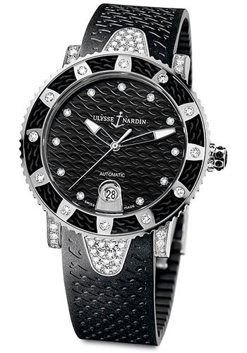 Ulysse Nardin Watches - Marine Diver Lady 40mm - Stainless Steel - Style No: 8103-101EC-3C/12