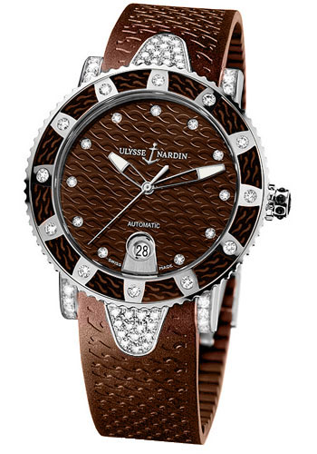 Ulysse Nardin Watches - Marine Diver Lady 40mm - Stainless Steel - Style No: 8103-101EC-3C/15