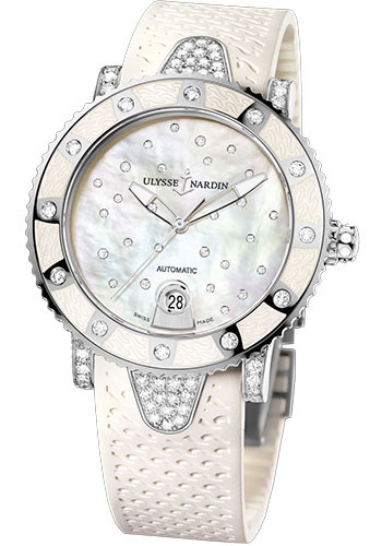 Ulysse Nardin Watches - Marine Diver Lady 40mm - Stainless Steel - Starry Night - Style No: 8103-101EC-3C/20