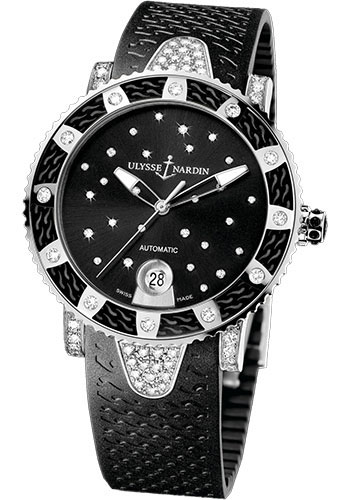 Ulysse Nardin Watches - Marine Diver Lady 40mm - Stainless Steel - Starry Night - Style No: 8103-101EC-3C/22