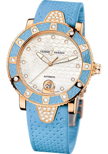 Ulysse Nardin Watches - Marine Diver Lady 40mm - Rose Gold - Style No: 8106-101E-3C/10.13
