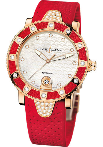 Ulysse Nardin Watches - Marine Diver Lady 40mm - Rose Gold - Style No: 8106-101E-3C/10.16