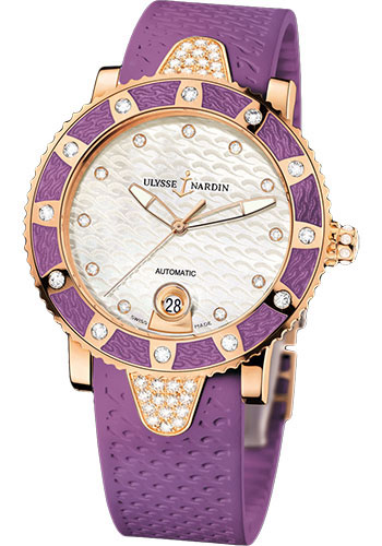 Ulysse Nardin Watches - Marine Diver Lady 40mm - Rose Gold - Style No: 8106-101E-3C/10.17