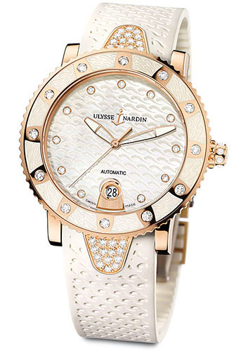 Ulysse Nardin Watches - Marine Diver Lady 40mm - Rose Gold - Style No: 8106-101E-3C/10