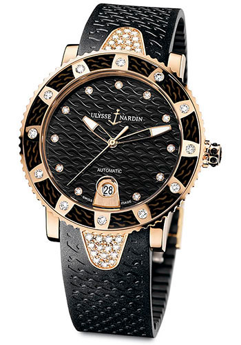 Ulysse Nardin Watches - Marine Diver Lady 40mm - Rose Gold - Style No: 8106-101E-3C/12