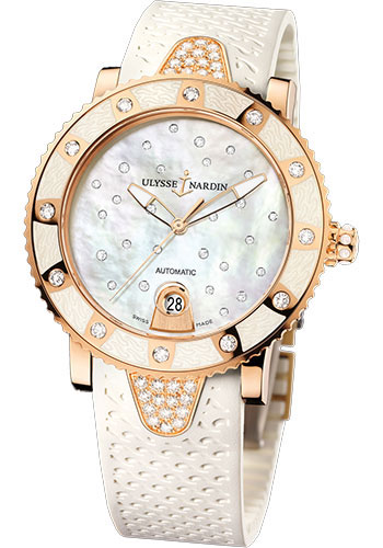 Ulysse Nardin Watches - Marine Diver Lady 40mm - Rose Gold - Starry Night - Style No: 8106-101E-3C/20