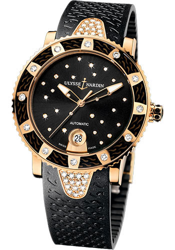 Ulysse Nardin Watches - Marine Diver Lady 40mm - Rose Gold - Starry Night - Style No: 8106-101E-3C/22