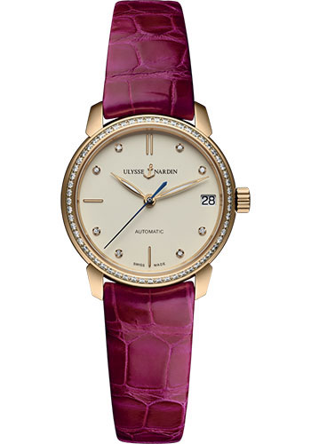 Ulysse Nardin Watches - Classico Lady - Rose Gold - Leather Strap - Style No: 8106-116B-2/990