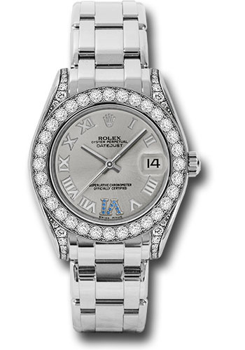 Rolex Watches - Datejust Pearlmaster 34 White Gold - 34 Diamond Bezel - Diamond Lugs - Style No: 81159 ssr