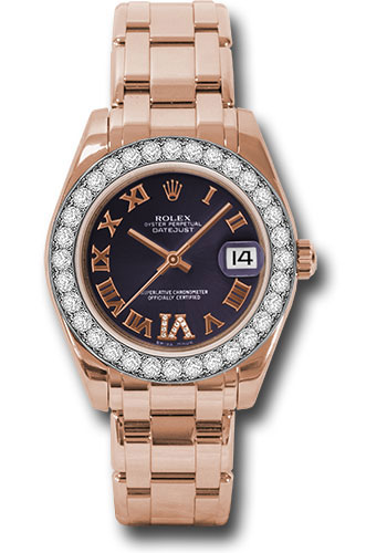 Rolex Watches - Datejust Pearlmaster 34 Everose Gold - 32 Diamond Bezel - Style No: 81285 pudr6p