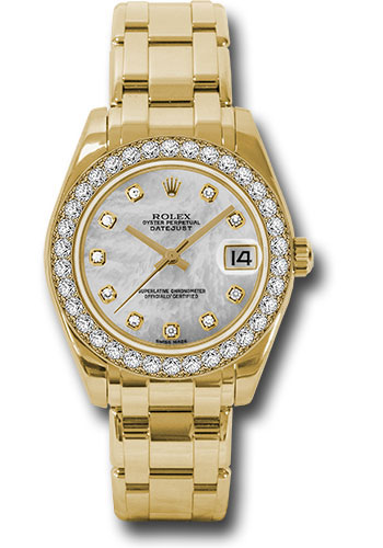 Rolex Watches - Datejust Pearlmaster 34 Yellow Gold - 34 Diamond Bezel - Style No: 81298 md