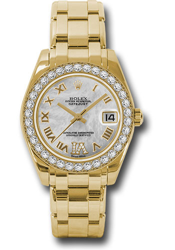 Rolex Watches - Datejust Pearlmaster 34 Yellow Gold - 34 Diamond Bezel - Style No: 81298 mdr