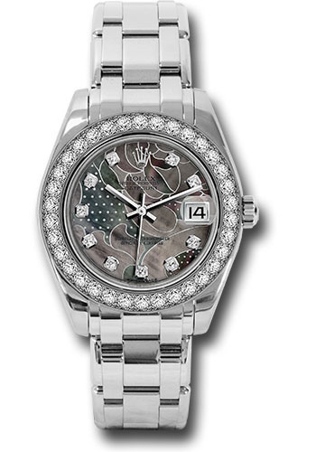 Rolex Watches - Datejust Pearlmaster 34 White Gold - 34 Diamond Bezel - Style No: 81299 gdd