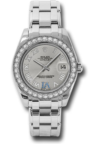 Rolex Watches - Datejust Pearlmaster 34 White Gold - 34 Diamond Bezel - Style No: 81299 ssr