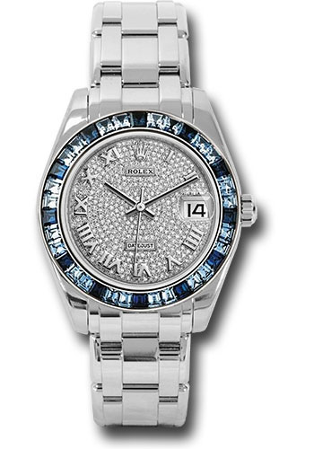 Rolex Watches - Datejust Pearlmaster 34 White Gold - 36 Sapphire Bezel - Style No: 81349SA dpr