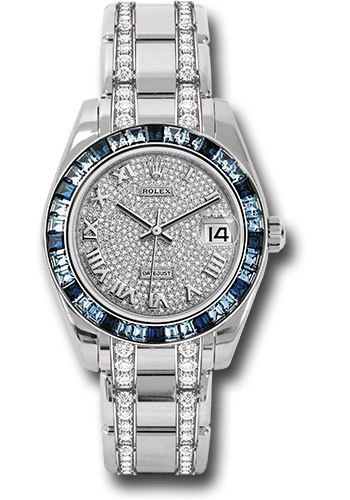 Rolex Watches - Datejust Pearlmaster 34 White Gold - 36 Sapphire Bezel - Style No: 81349SA dprdp