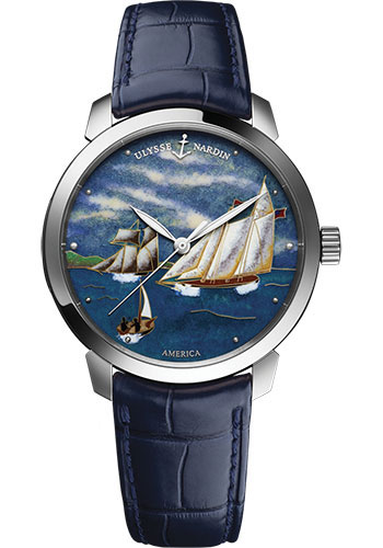 Ulysse Nardin Watches - Classico Automatic - White Gold - Leather Strap - Style No: 8150-111-2/AMERICA