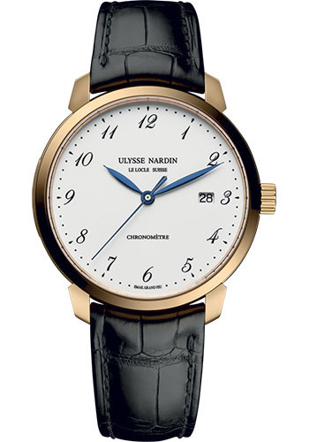 Ulysse Nardin Watches - Classico Automatic - Rose Gold - Leather Strap - Style No: 8152-111-2/5GF