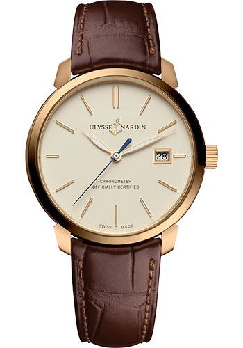 Ulysse Nardin Watches - Classico Automatic - Rose Gold - Leather Strap - Style No: 8152-111-2/91