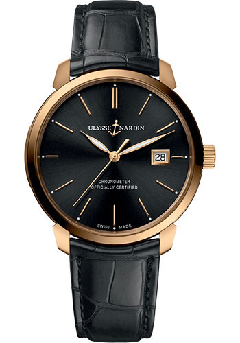 Ulysse Nardin Watches - Classico Automatic - Rose Gold - Leather Strap - Style No: 8152-111-2/92