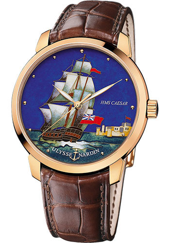 Ulysse Nardin Watches - Classico Enamel - Rose Gold - Style No: 8152-111-2/CAESAR