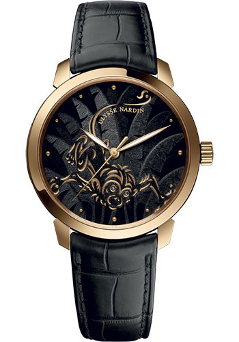 Ulysse Nardin Watches - Classico Automatic - Rose Gold - Leather Strap - Style No: 8152-111-2/SINGE