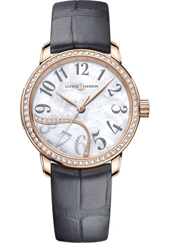 Ulysse Nardin Watches - Classico Jade - Rose Gold - Diamond Bezel - Style No: 8152-230B/60-01