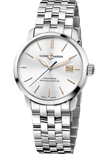 Ulysse Nardin Watches - Classico Automatic - Stainless Steel - Bracelet - Style No: 8153-111-7/90
