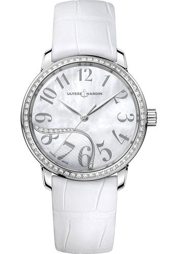 Ulysse Nardin Watches - Classico Jade - Stainless Steel - Diamond Bezel - Style No: 8153-201B/60-01