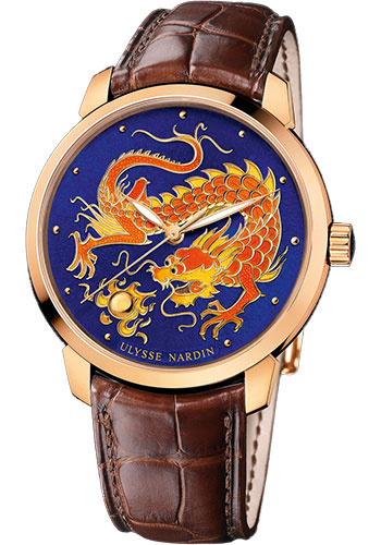 Ulysse Nardin Watches - Classico Enamel - Rose Gold - Style No: 8156-111-2/DRAGON