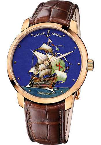 Ulysse Nardin Watches - Classico Enamel - Rose Gold - Style No: 8156-111-2/SM