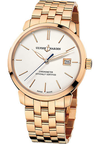 Ulysse Nardin Watches - Classico Automatic - Rose Gold - Bracelet - Style No: 8156-111-8/91