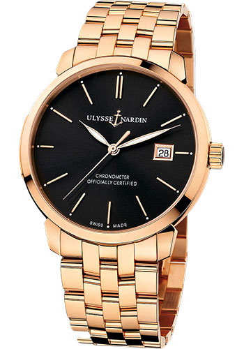 Ulysse Nardin Watches - Classico Automatic - Rose Gold - Bracelet - Style No: 8156-111-8/92