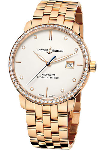 Ulysse Nardin Watches - Classico Automatic - Rose Gold - Bracelet - Style No: 8156-111B-8/991