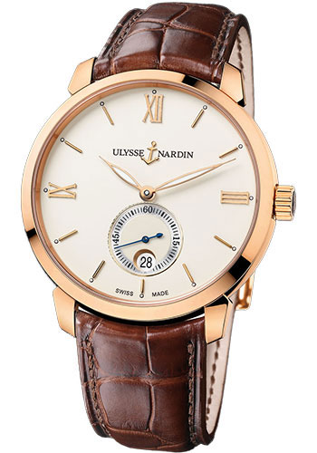 Ulysse Nardin Watches - Classico Automatic Small Seconds - Rose Gold - Style No: 8276-119-2/31