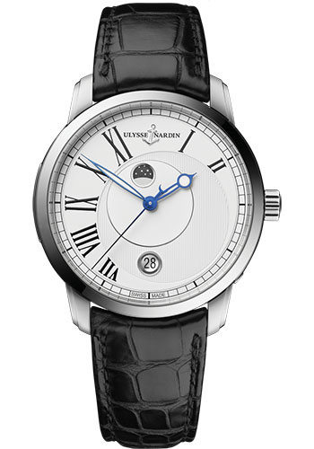 Ulysse Nardin Watches - Classic Luna Stainless Steel - Style No: 8293-122-2/40