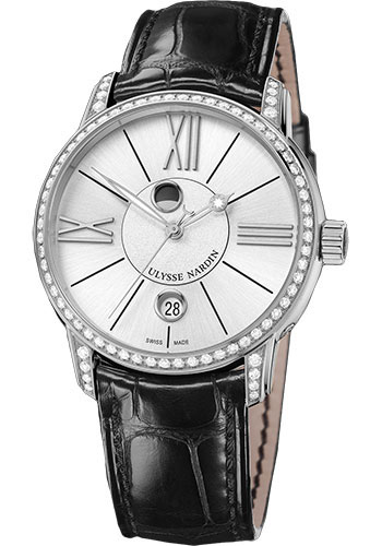 Ulysse Nardin Watches - Classic Luna Stainless Steel Diamonds - Style No: 8293-122B-2/41