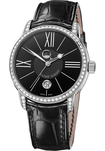 Ulysse Nardin Watches - Classic Luna Stainless Steel Diamonds - Style No: 8293-122B-2/42