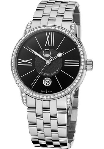 Ulysse Nardin Watches - Classic Luna Stainless Steel Diamonds - Style No: 8293-122B-7/42