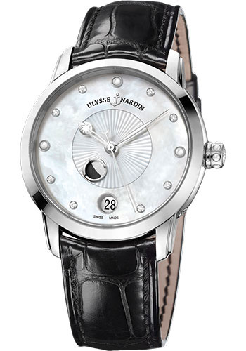 Ulysse Nardin Watches - Classic Luna Lady Steel - Style No: 8293-123-2/991