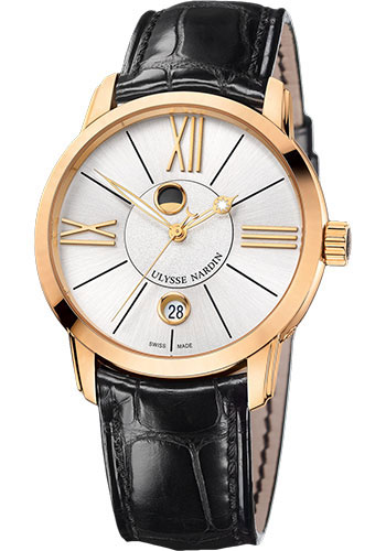Ulysse Nardin Watches - Classic Luna Rose Gold - Style No: 8296-122-2/41
