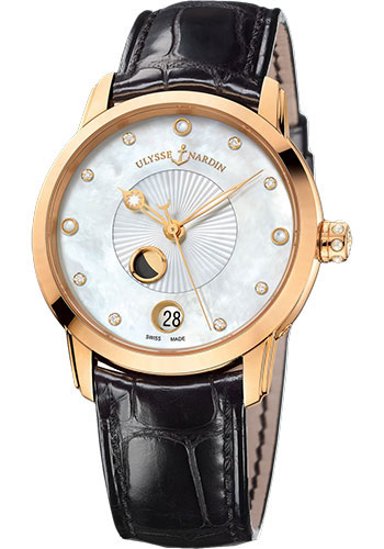 Ulysse Nardin Watches - Classic Luna Lady Rose Gold - Style No: 8296-123-2/991