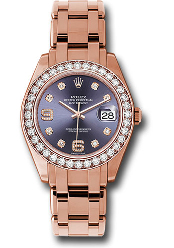 Rolex Watches - Datejust Pearlmaster 39 Everose Gold - Style No: 86285 aubd