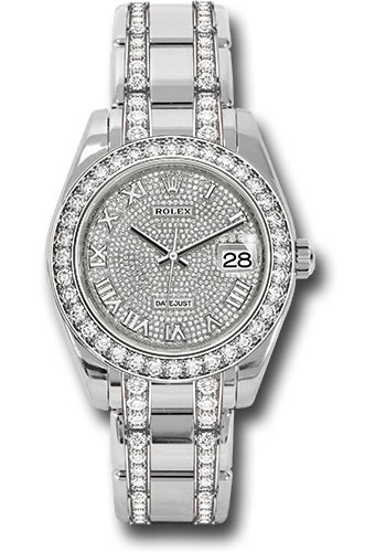 Rolex Watches - Datejust Pearlmaster 39 White Gold - Diamond Bracelet - Style No: 86289 dprdp