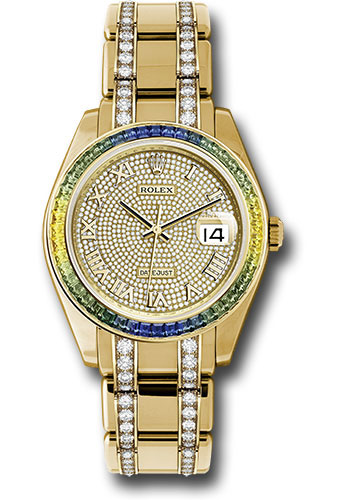 Rolex Watches - Datejust Pearlmaster 39 Yellow Gold - Diamond Bracelet - Style No: 86348SABLV dpdb