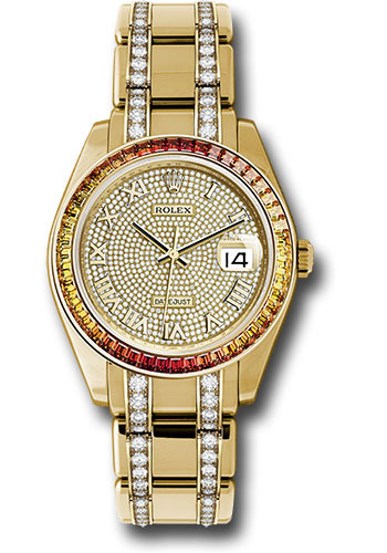 Rolex Watches - Datejust Pearlmaster 39 Yellow Gold - Diamond Bracelet - Style No: 86348SAJOR dpdb