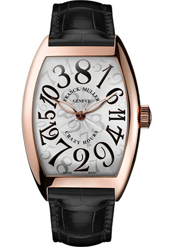 Franck Muller Watches - Cintre Curvex - Automatic - 39.6 mm Crazy Hours - Rose Gold - Strap - Style No: 8800 CH 5N White Black