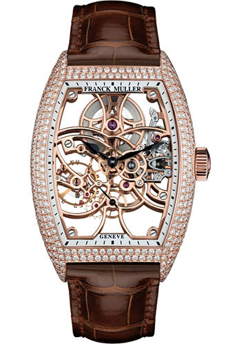 Franck Muller Watches - Cintre Curvex - Manual - 39.6 mm Rose Gold - Dia Case - Strap - Style No: 8880 B S6 SQT D 5N Brown