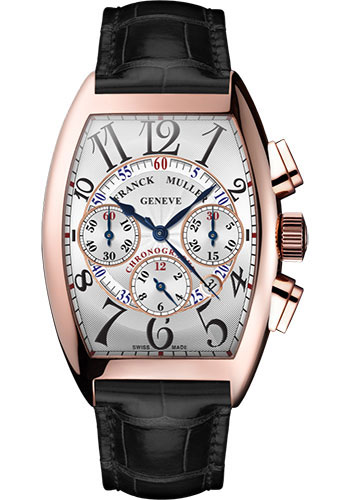 Franck Muller Watches - Cintre Curvex - Automatic Chronograph - 39.6 mm Rose Gold - Strap - Style No: 8880 CC AT 5N White Black